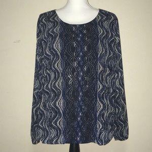 Women's Alfani Long Sleeve Blouse